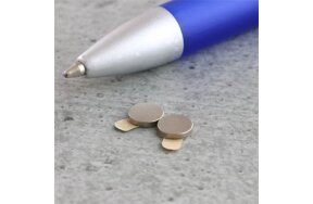 DISC MAGNET D6mm x 1mm ADHESIVE
